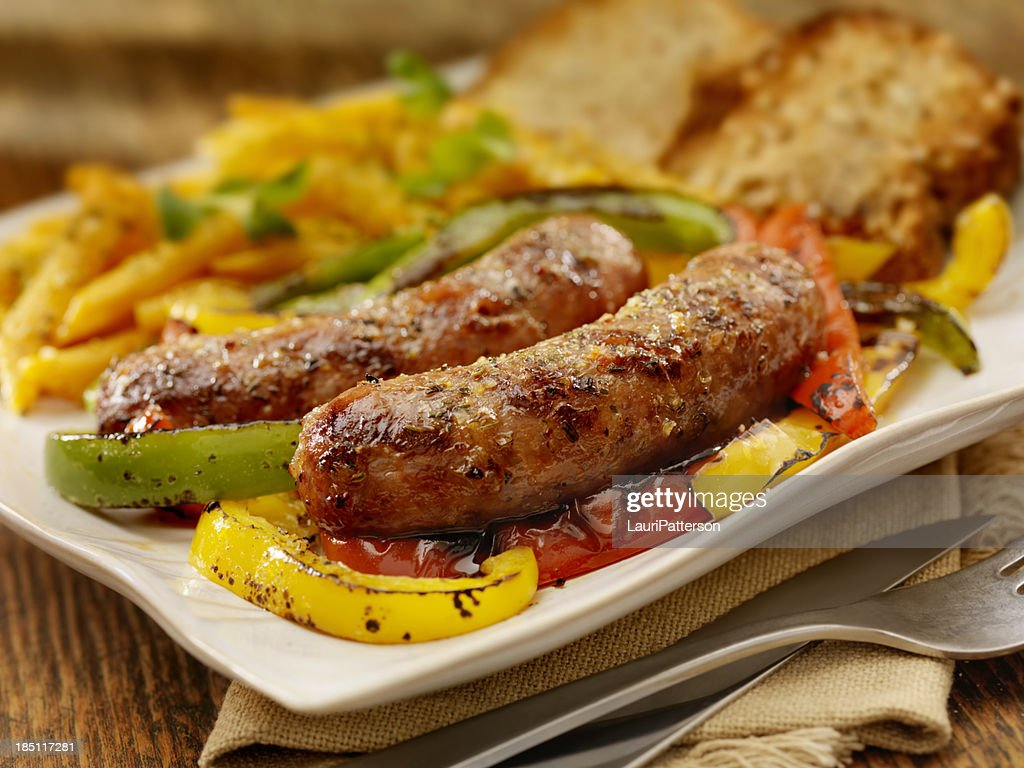 Italian Sausage and Peppers : Stock Photo