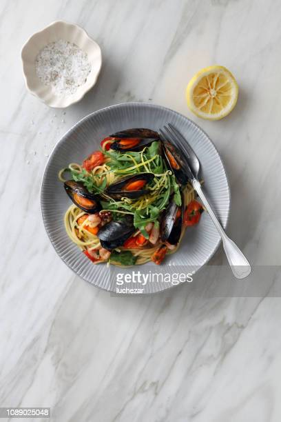 Italian Seafood Pasta with Mussels and Calamari