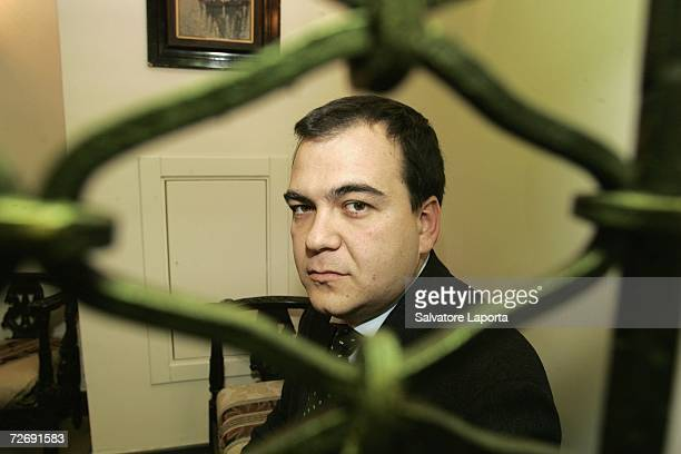 Italian security consultant Mario Scaramella poses for the camera in this file photo taken in June 2006 in a Naples hotel Scaramella was one of the...