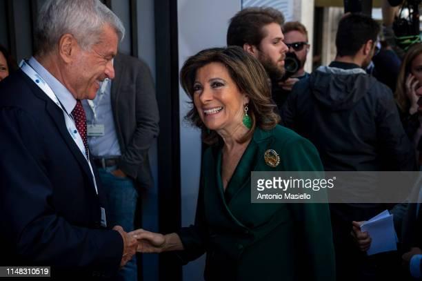 Italian Senate President Maria Elisabetta Alberti Casellati attends a national meeting of Confcommercio on June 6 2019 in Rome Italy