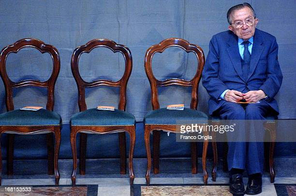 Italian Senator for life Giulio Andreotti attends the first ceremony for the beatification process of Pope John Paul II at the Basilica of St John...