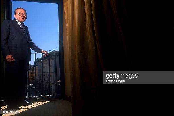 ROME ITALY Italian Senator for life Giulio Andreotti poses for a portrait Session in his private studio in Piazza San Lorenzo in Lucina circa 1998 in...