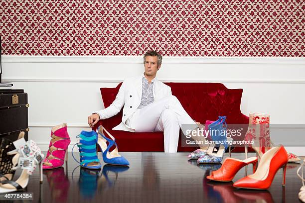 Italian shoe designer Alberto Moretti is photographed for Madame Figaro on October 8 2014 at home in Tuscany Italy CREDIT MUST READ Gaetan...