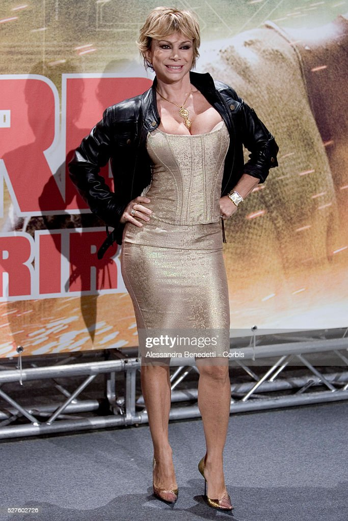 Italian Showgirl Carmen Russo Attends The Premiere Of The Movie Live Free Or Hard