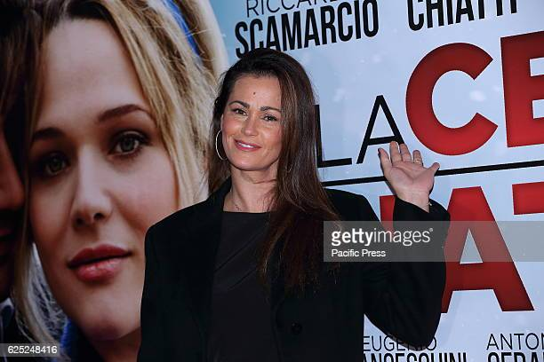 Italian showgirl Samantha De Grenet during Red Carpet of film La Cena di Natale directed by Marco Ponti