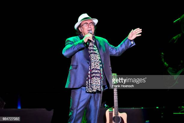 Italian singer Al Bano performs live on stage during a concert at the MercedesBenz Arena on March 19 2018 in Berlin Germany