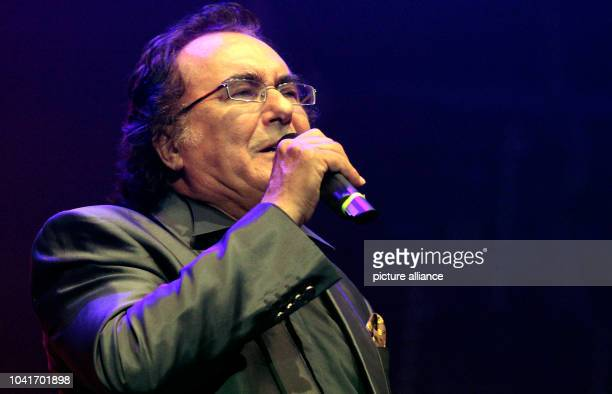 Italian singer Al Bano performs on stage during the HOPE Concert advocating human rights in Iran in Berlin Germany 7 June 2013 Photo Lutz...