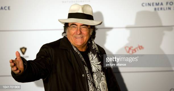 Italian singer Albano Carrisi arrives for the Cinema for Peace Gala during the 64th Berlin Film Festival in Berlin Germany 10 February 2014 The award...