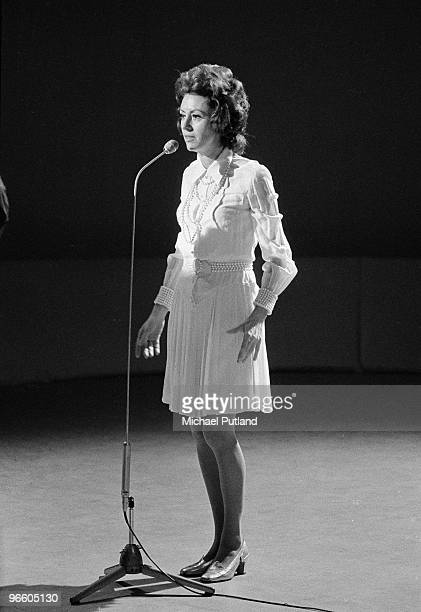 Italian singer and actress Caterina Valente performing on BBC TV's Young Generation Show London 1970