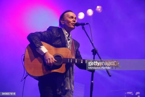 Italian singer and guitarist Dodi Battaglia performs in concert after having left his band, The Pooh. Bellaria , April 16, 2017