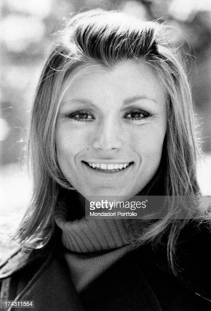 Italian singer and member of the band Ricchi e Poveri Marina Occhiena smiling 1970s