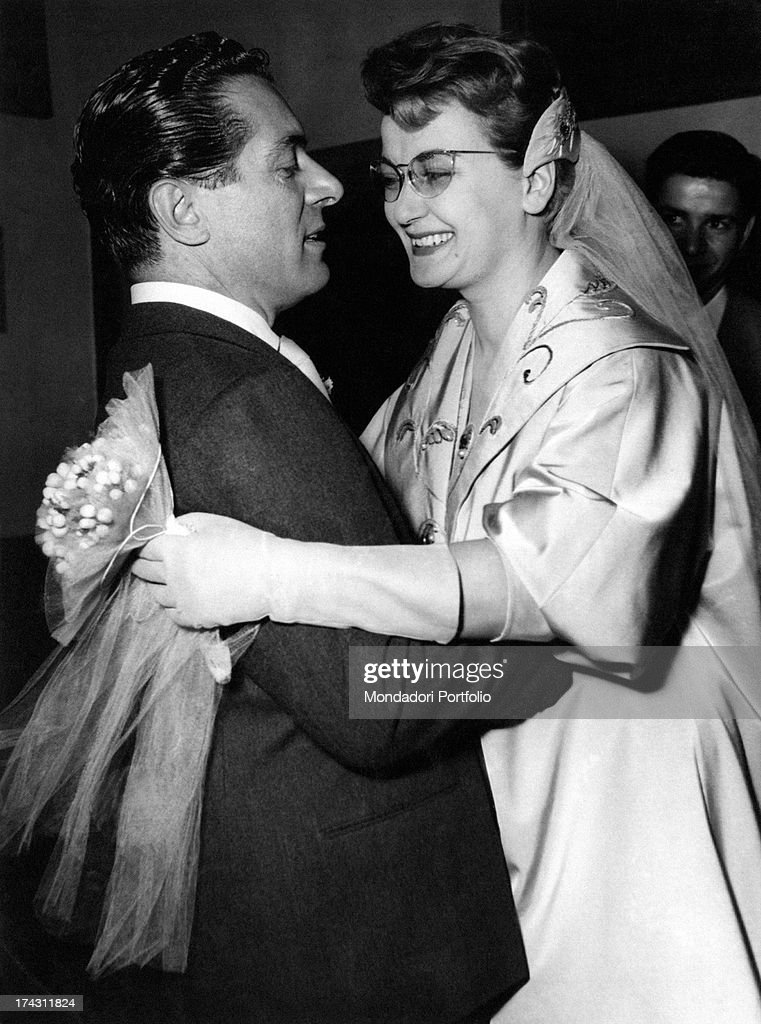 Natalino Otto And Flo Sandon'S On The Day Of Their Wedding : News Photo