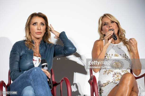 Italian singer and showgirl Sabrina Salerno and Italian songwriter Jo Squillo guests on the second day of Il Tempo delle Donne at Milan Triennale....