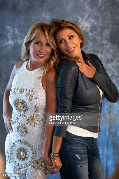Italian singer and showgirl Sabrina Salerno and Italian songwriter Jo Squillo guests on the second day of Il Tempo delle Donne at Milan Triennale...