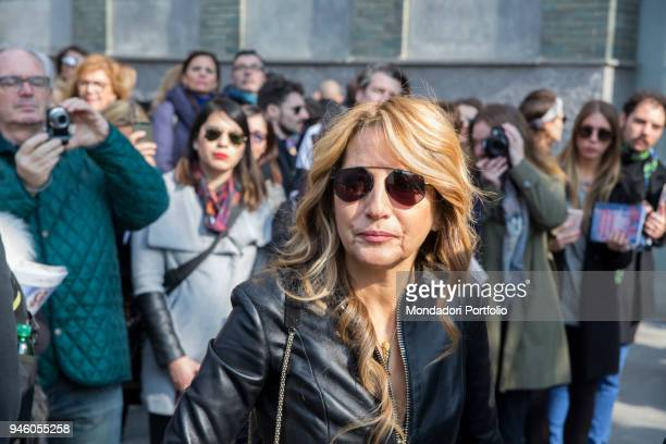 Italian singer and television host Jo Squillo during the last day of the Milan Fashion Week F/W 2017/2018 Milan february 27 2017