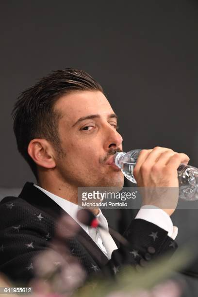 Italian singer and winner Francesco Gabbani at 67th Sanremo Music Festival 5th night Sanremo February 11 2017