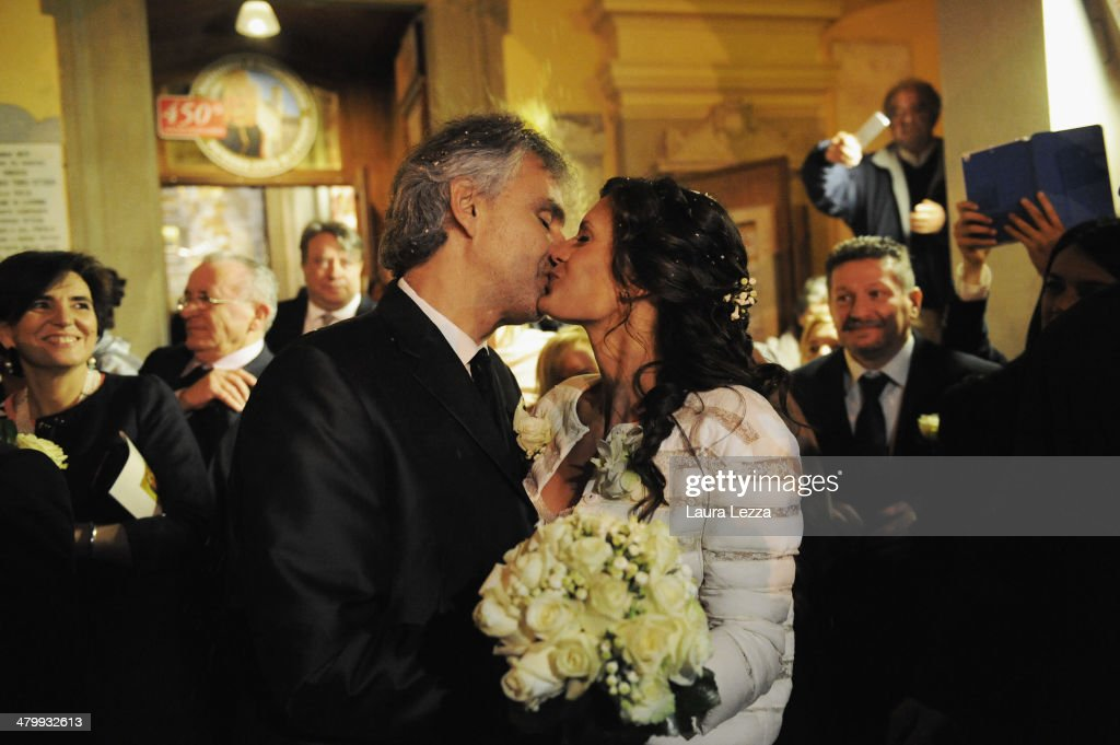 European best pictures of the day march 22 2014 photos and images italian singer andrea bocelli and veronica berti kiss at sanctuary of madonna di montenero after their m4hsunfo