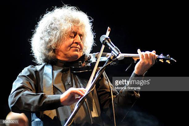 Italian singer Angelo Branduardi performs at Smeraldo's theatre on November 24 2009 in Milan Italy