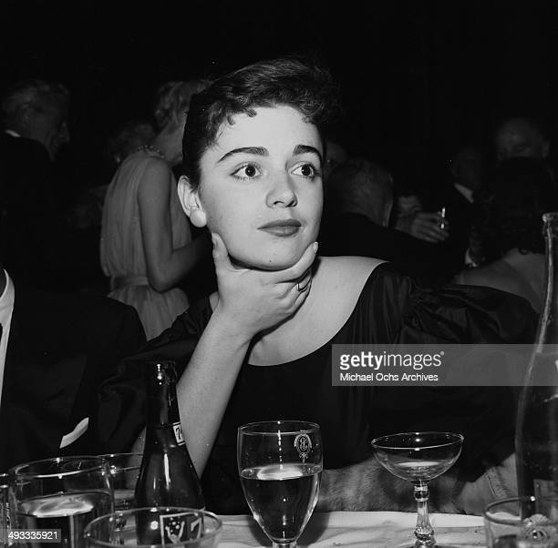 LOS ANGELES CALIFORNIA JANUARY 29 1956 Italian singer Anna Maria Alberghetti attends the Directors Guild Dinner in Los Angeles California