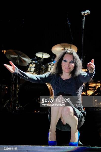 Italian singer Anna Oxa in concert with the Proxima Tour at Palabam Mantua March 12th 2011