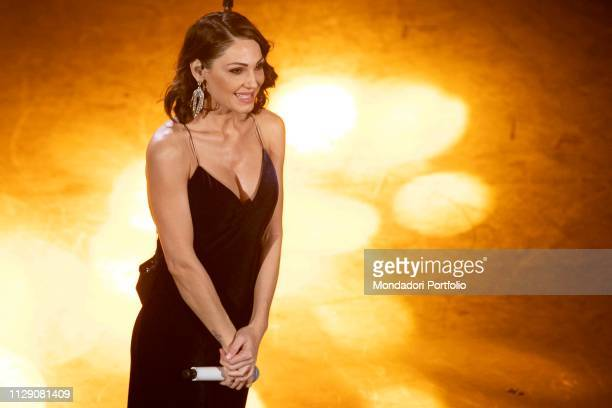 Italian singer Anna Tatangelo during the fifth and last evening of the 69th Sanremo Music Festival Sanremo February 9th 2019