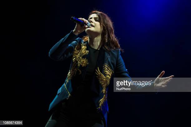 Italian SInger Annalisa performs on stage at Estathè Market Sound festival in milan on May 16 2015