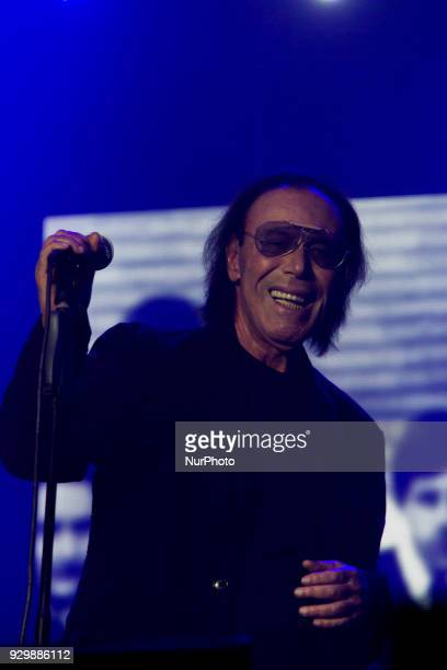 Italian singer Antonello Venditti performs in Padova Italy with a concert to celebrate the Women's Day and his birthday on 8 March 2018