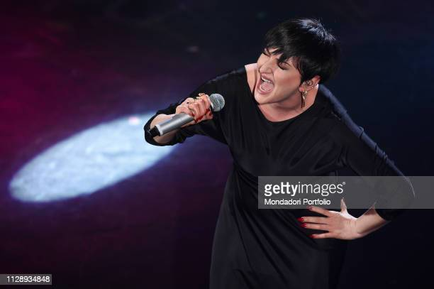 Italian singer Arisa at the fifth and last evening of the 69th Sanremo Music Festival Sanremo February 9th 2019