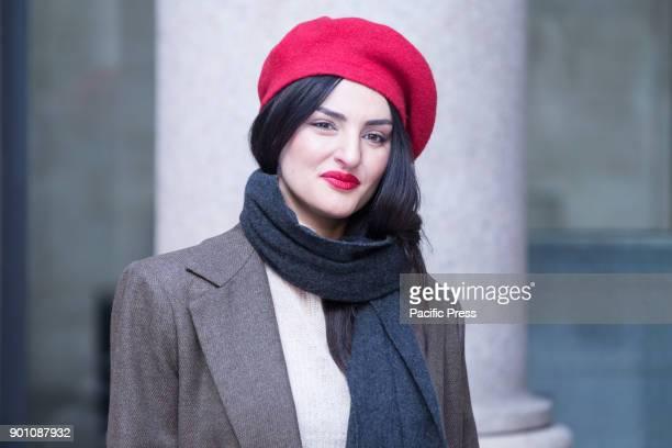 Italian singer Arisa during photocall of the Italian film Napoli Velata