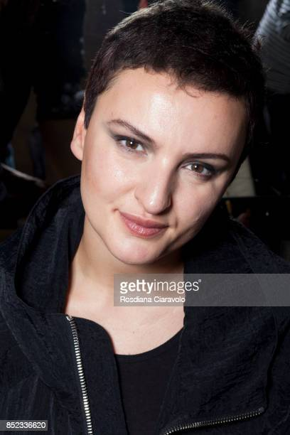 Italian Singer Arisa is seen ahead of the Atsushi Nakashima show during Milan Fashion Week Spring/Summer 2018 on September 20 2017 in Milan Italy