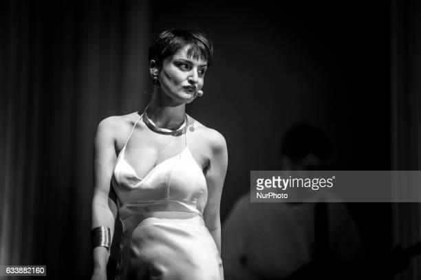 Italian singer Arisa performs at Auditorium Parco della Musica on February 4 2017 in Rome Italy