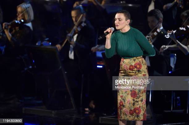 Italian singer Arisa performs at the Paul VI Hall during the Vatican annual Christmas concert Vatican City December 14th 2019
