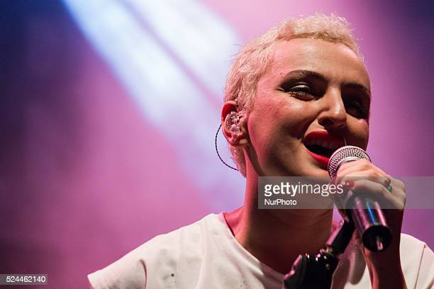 Italian singer Arisa performs live during the second night of Ritmika 2014 in her quotSe Vedo Tourquot in Turin Italy on September 8 2014 She won the...