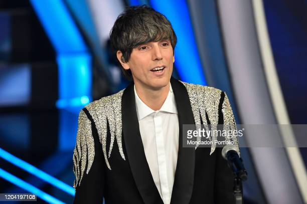 Italian singer Bugo at the first evening of the 70th Sanremo Music Festival Sanremo February 4th 2020