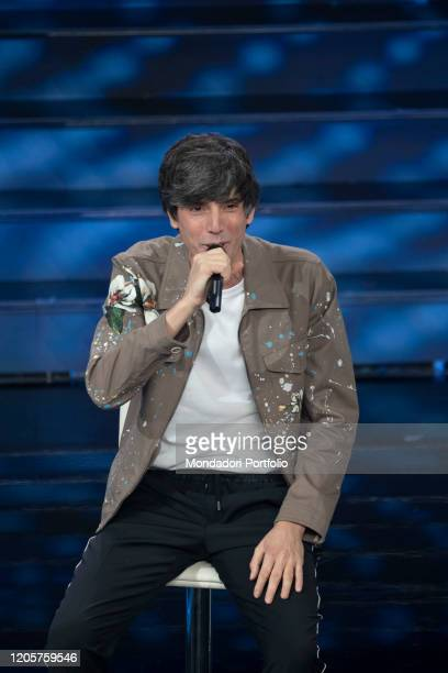Italian singer Bugo during the episode of Domenica In dedicated to 70th Sanremo Music Festival Sanremo February 9th 2020