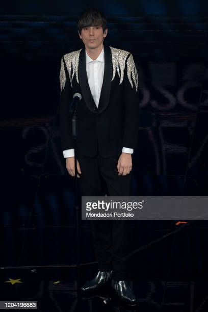 Italian singer Bugo during the first evening of the 70 Sanremo Music Festival Sanremo February 4th 2020