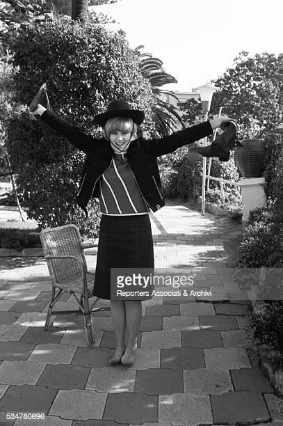 Italian singer Caterina Caselli posing outside Sanremo 1st February 1966