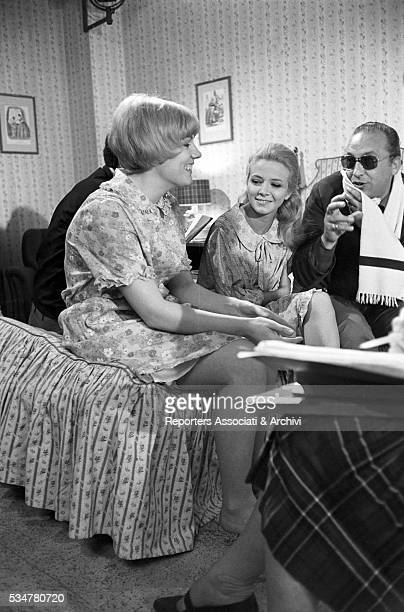 Italian singer Caterina Caselli reharsing with Italian actress Laura Efrikian in Nessuno mi può giudicare. Italy, 20th May 1966
