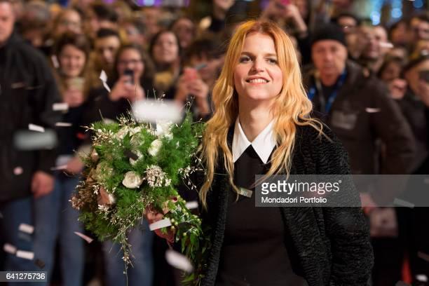 Italian singer Chiara Galiazzo attends the Red Carpet of 67° Sanremo Music Festival Sanremo February 6 2017