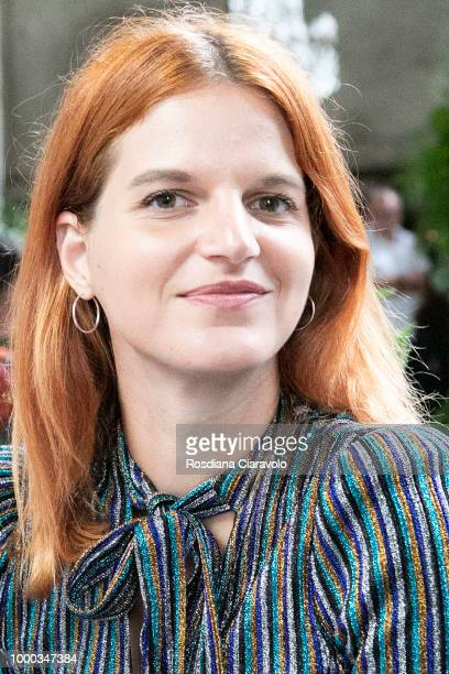 Italian singer Chiara Galiazzo is seen backstage ahead of the Aniye By Fashion Show SS19 on July 16 2018 in Milan Italy