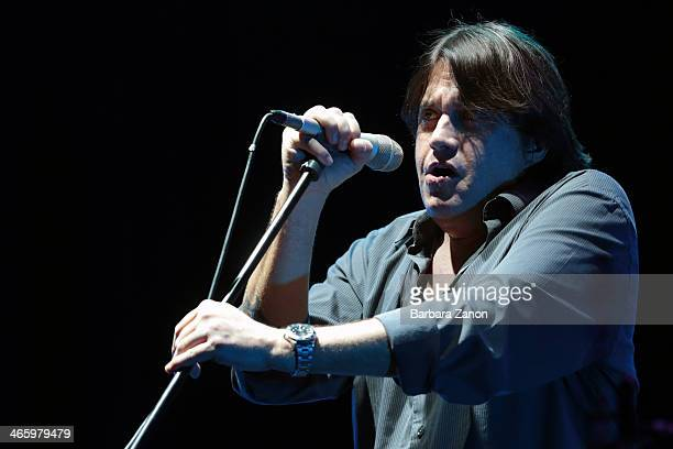 Italian singer Cristiano De Andre performs on stage at Teatro Toniolo on January 30 2014 in Mestre Italy