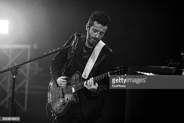 Italian singer Daniele Silvestri performs live in concert at Auditorium Parco della Musica on December 27 2016 in Rome Italy