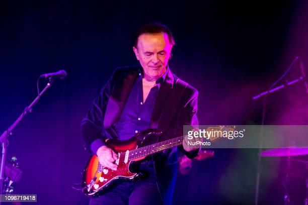 Italian singer Dodi Battaglia performs with his Tour Perle on 8 February 2019 at Teatro Corso in Mestre, Venice, Italy.