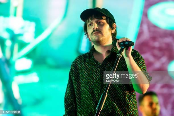 Italian singer Edoardo D'Erme aka Calcutta performs in Milan, Italy, on June 25, 2019.