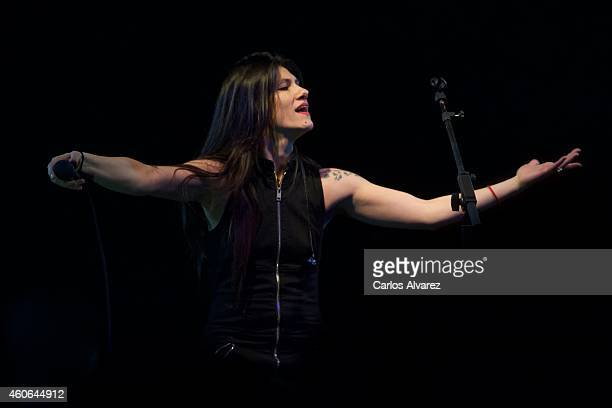 Italian singer Elisa performs on stage at the BUT Club on December 18 2014 in Madrid Spain