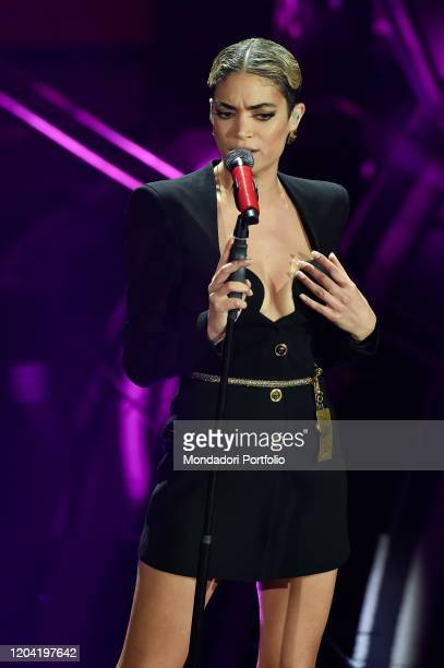 Italian singer Elodie at the first evening of the 70th Sanremo Music Festival Sanremo February 4th 2020