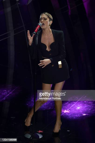 Italian singer Elodie during the first evening of the 70 Sanremo Music Festival Sanremo February 4th 2020