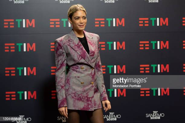 Italian singer Elodie in the Press Room of the 70 Sanremo Music Festival Sanremo February 6th 2020