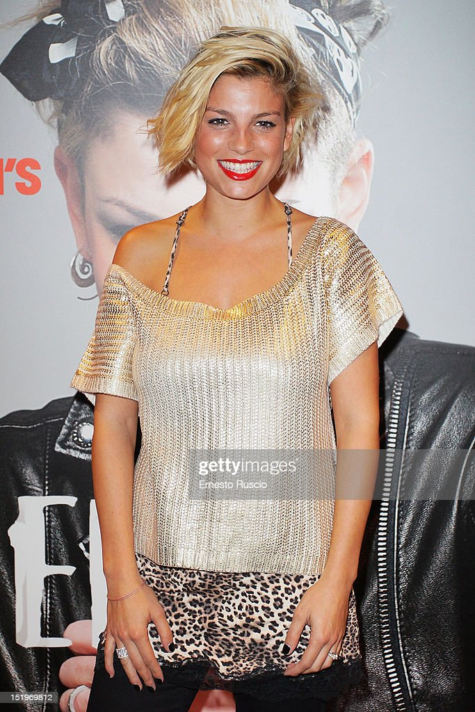 Italian singer Emma Marrone attends the Rome Vogue Fashion's Night Out 2012 at Tezenis on September 13, 2012 in Rome, Italy.