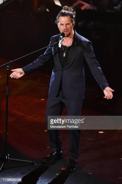 Italian singer Enrico Nigiotti at the fifth and last evening of the 69th Sanremo Music Festival Sanremo February 9th 2019
